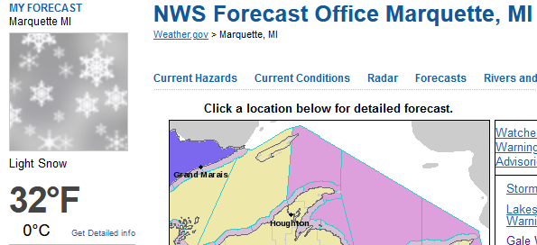 20201017 NWS Marquette Obs 1 pm.PNG