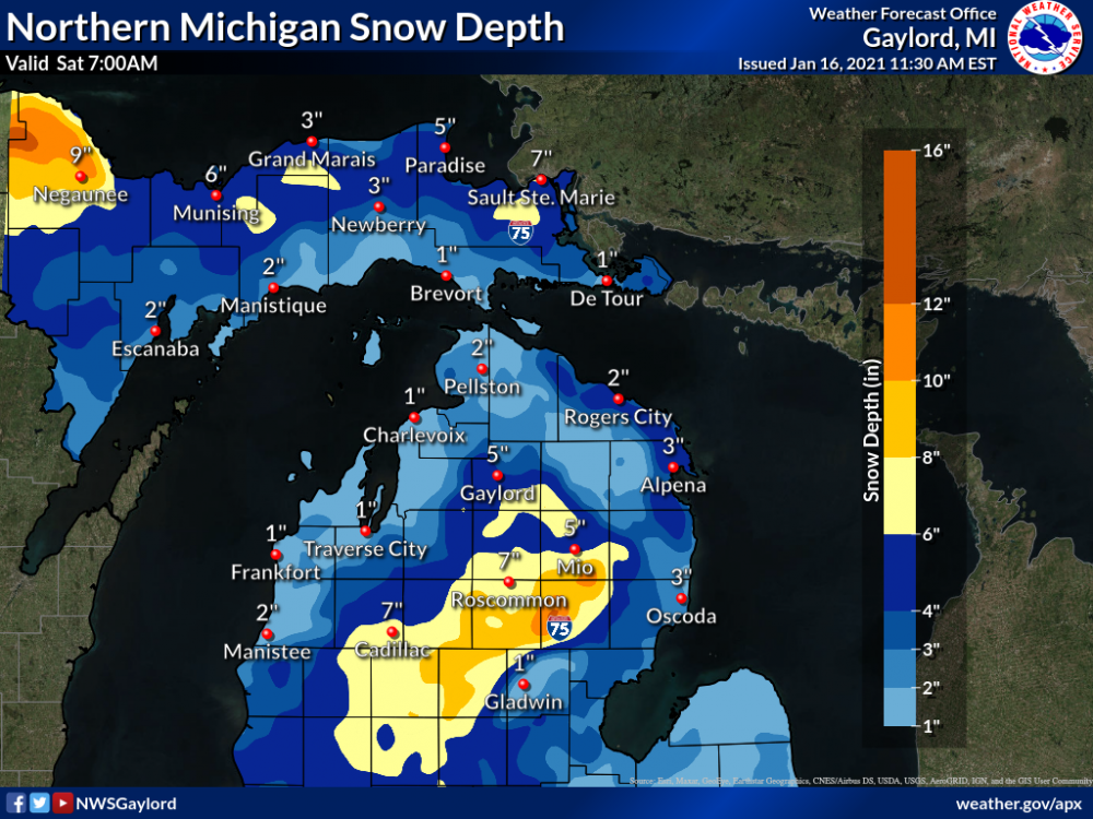 20210116 Central and N Mich Snow Depth.png